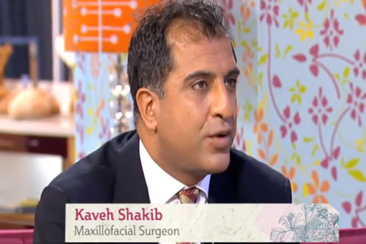 Kaveh Shakib speaking on This Morning television show